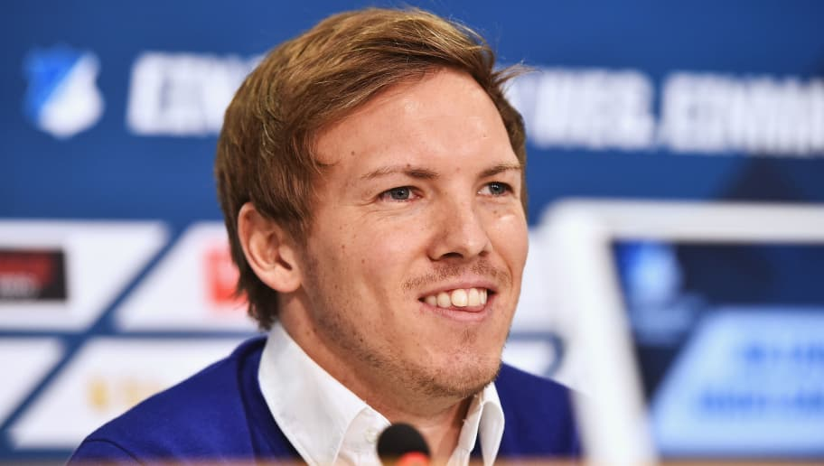 ZUZENHAUSEN, GERMANY - FEBRUARY 12:  Julian Nagelsmann is presented as new head coach of TSG 1899 Hoffenheim during a press conference on February 12, 2016 in Zuzenhausen, Germany.  (Photo by Dennis Grombkowski/Bongarts/Getty Images)