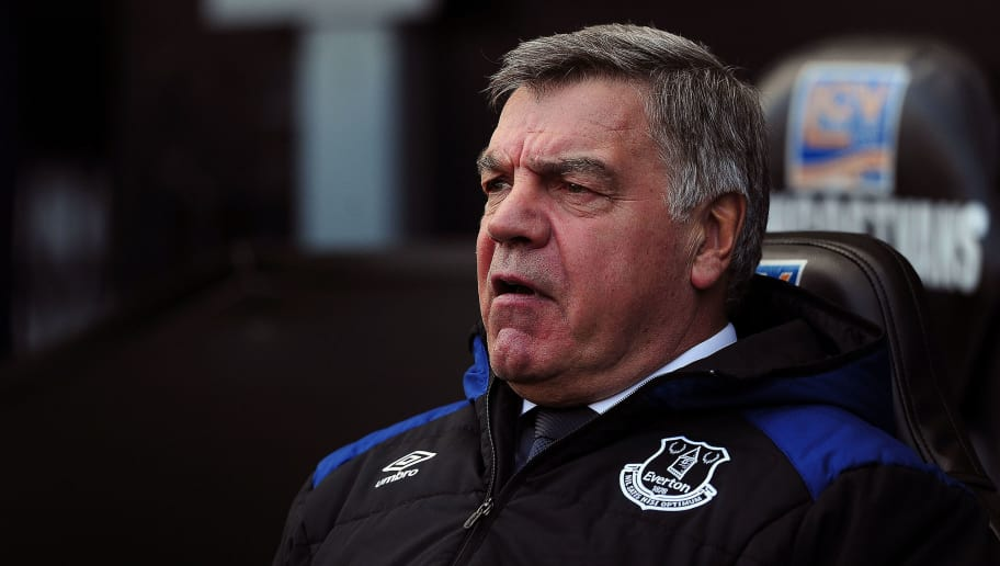 SWANSEA, WALES - APRIL 14: Everton manager Sam Allardyce looks on during the Premier League match between Swansea City and Everton at Liberty Stadium on April 14, 2018 in Swansea, Wales. (Photo by Harry Trump/Getty Images)