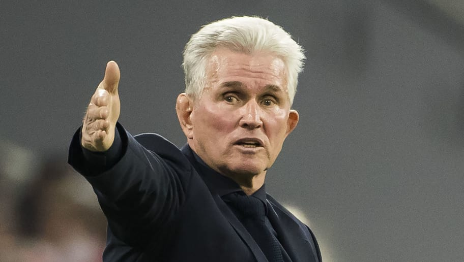 Bayern Munich's German head coach Jupp Heynckes gestures during the UEFA Champions League quarter-final second leg football match between Bayern Munich and Sevilla FC on April 11, 2018 in Munich, southern Germany. / AFP PHOTO / Odd ANDERSEN        (Photo credit should read ODD ANDERSEN/AFP/Getty Images)