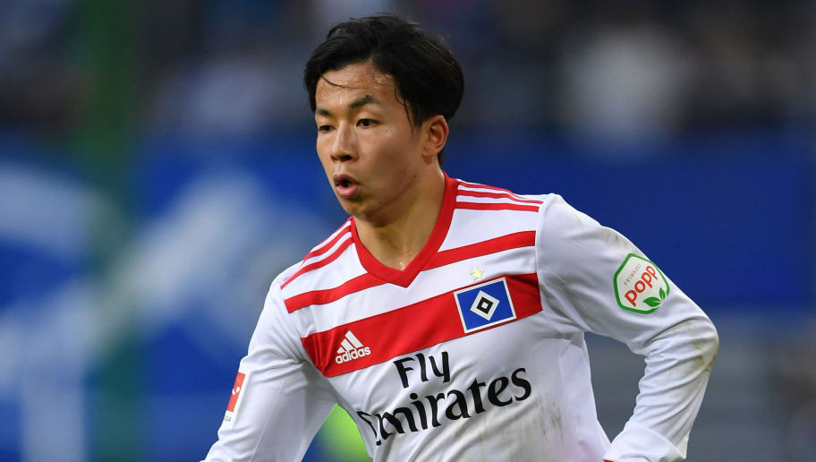 HAMBURG, GERMANY - APRIL 07:  Tatsuya Ito of Hamburg in action during the Bundesliga match between Hamburger SV and FC Schalke 04 at Volksparkstadion on April 7, 2018 in Hamburg, Germany.  (Photo by Stuart Franklin/Bongarts/Getty Images)