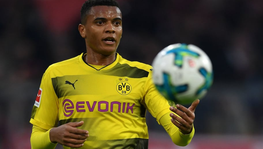 MUNICH, GERMANY - MARCH 31:  Manuel Akanji of Dortmund in action during the Bundesliga match between FC Bayern Muenchen and Borussia Dortmund at Allianz Arena on March 31, 2018 in Munich, Germany.  (Photo by Stuart Franklin/Bongarts/Getty Images)