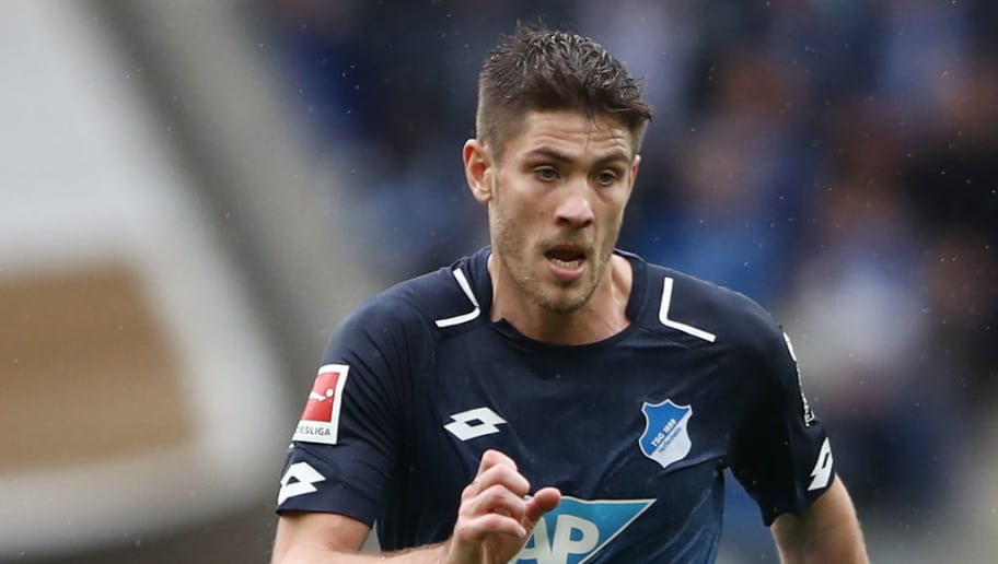 SINSHEIM, GERMANY - MARCH 10: Andrej Kramaric of Hoffenheim controls the ball during the Bundesliga match between TSG 1899 Hoffenheim and VfL Wolfsburg at Wirsol Rhein-Neckar-Arena on March 10, 2018 in Sinsheim, Germany. (Photo by Alex Grimm/Bongarts/Getty Images)