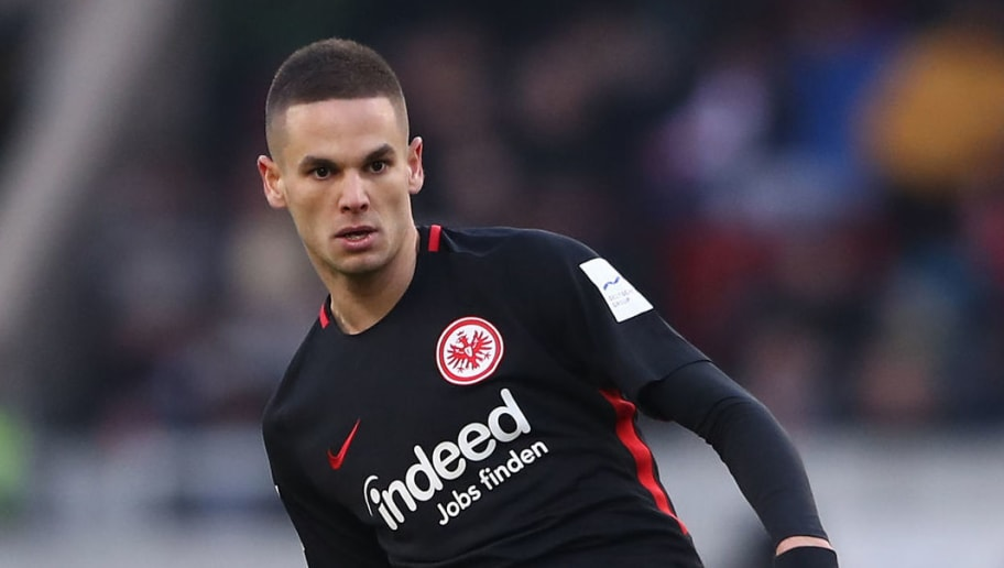 STUTTGART, GERMANY - FEBRUARY 24:  Mijat Gacinovic of Frankfurt controls the ball during the Bundesliga match between VfB Stuttgart and Eintracht Frankfurt at Mercedes-Benz Arena on February 24, 2018 in Stuttgart, Germany. (Photo by Alex Grimm/Bongarts/Getty Images)