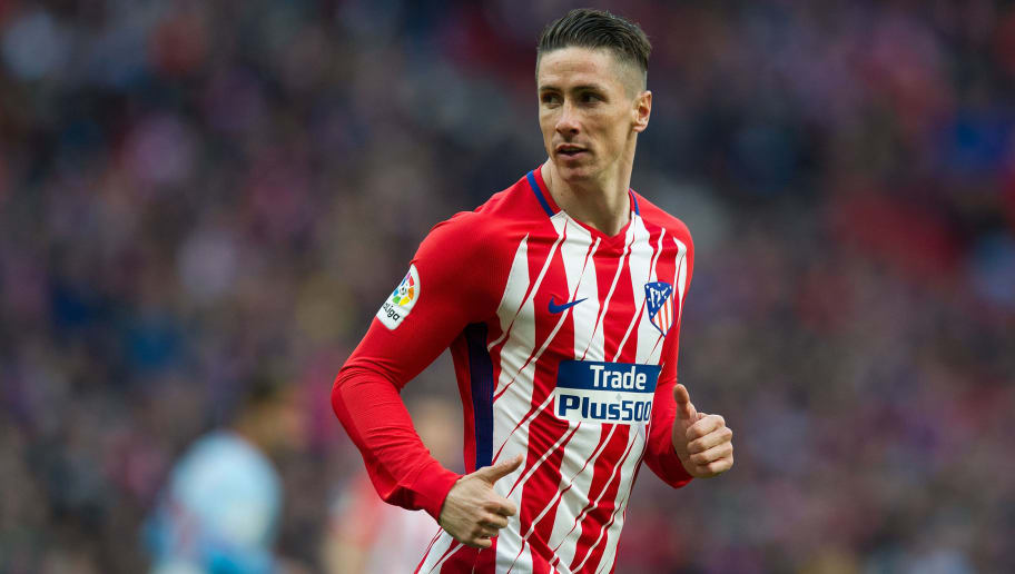 MADRID, SPAIN - MARCH 11: Fernando Torres of Atletico de Madrid looks on during the La Liga match between Atletico Madrid and Celta de Vigo at Wanda Metropolitano stadium on March 11, 2018 in Madrid, Spain. (Photo by Denis Doyle/Getty Images)