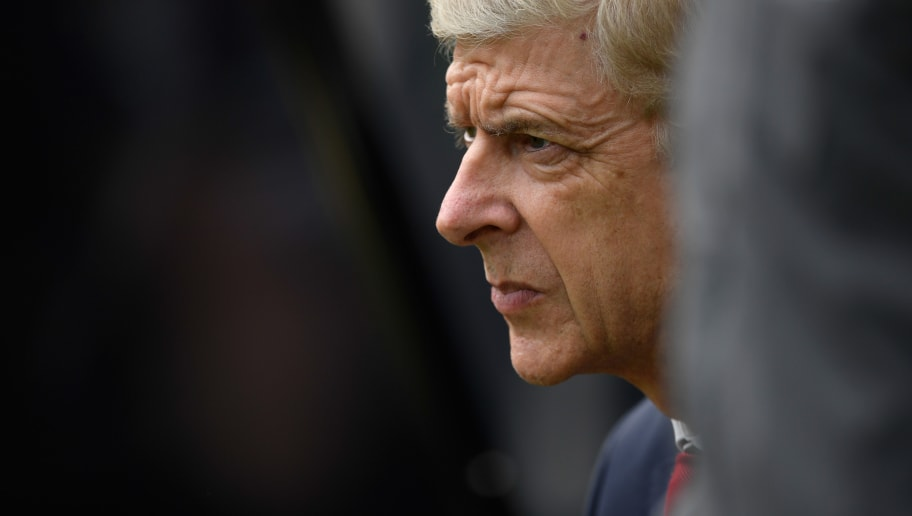 NEWCASTLE UPON TYNE, ENGLAND - APRIL 15:  Arsenal manager Arsene Wenger looks on during the Premier League match between Newcastle United and Arsenal at St. James Park on April 15, 2018 in Newcastle upon Tyne, England.  (Photo by Stu Forster/Getty Images)