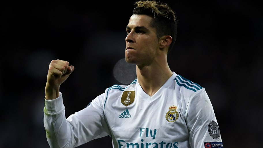 MADRID, SPAIN - APRIL 11:  Cristiano Ronaldo of Real Madrid CF celebrates at the end of the UEFA Champions League Quarter Final scond leg match between Real Madrid and Juventus at Estadio Santiago Bernabeu on April 11, 2018 in Madrid, Spain.  (Photo by David Ramos/Getty Images)