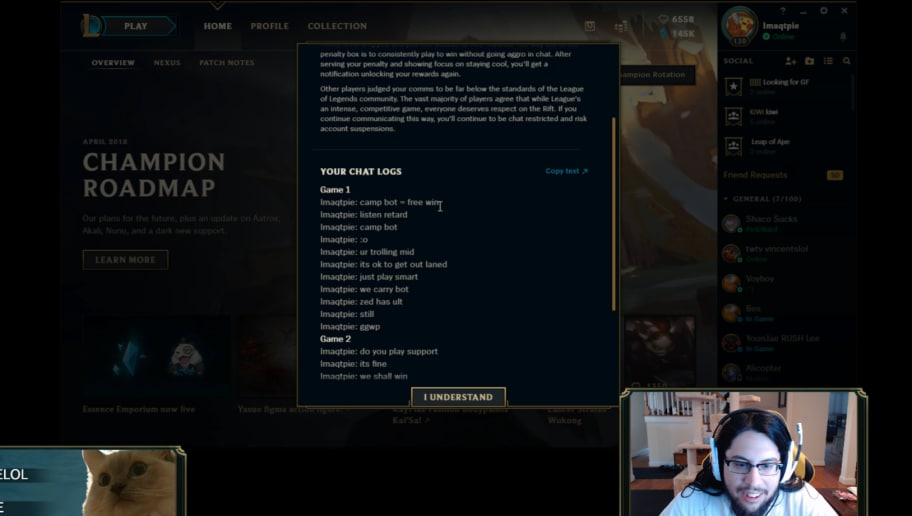 Imaqtpie Gets Chat Restricted in League of Legends | dbltap