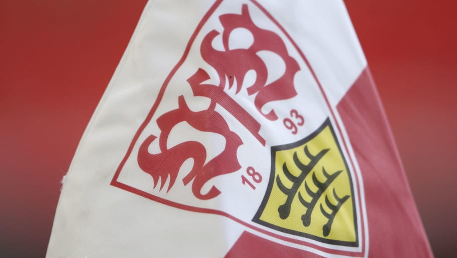 STUTTGART, GERMANY - APRIL 14:  A detailed view of a corner flag prior to the Bundesliga match between VfB Stuttgart and Hannover 96 at Mercedes-Benz Arena on April 14, 2018 in Stuttgart, Germany.  (Photo by Alex Grimm/Bongarts/Getty Images)