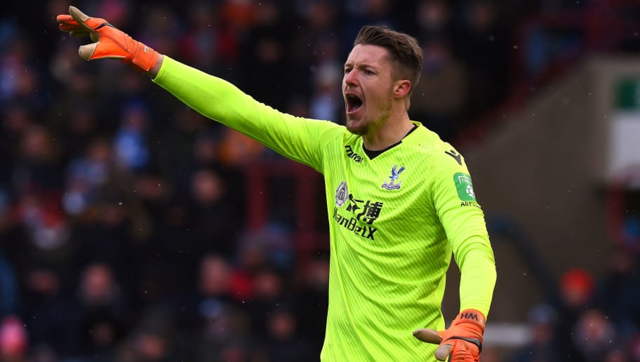 HUDDERSFIELD, ENGLAND - MARCH 17:  Wayne Hennessey of Crystal Palace during the Premier League match between Huddersfield Town and Crystal Palace at John Smith's Stadium on March 17, 2018 in Huddersfield, England.  (Photo by Tony Marshall/Getty Images)