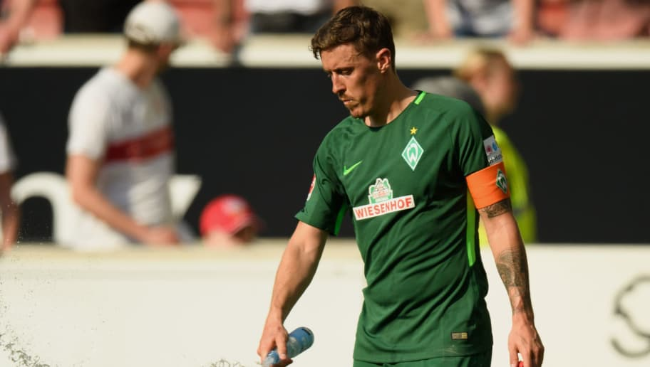 STUTTGART, GERMANY - APRIL 21: Max Kruse of Bremen shows his disappointment after the Bundesliga match between VfB Stuttgart and SV Werder Bremen at Mercedes-Benz Arena on April 21, 2018 in Stuttgart, Germany. (Photo by Matthias Hangst/Bongarts/Getty Images)