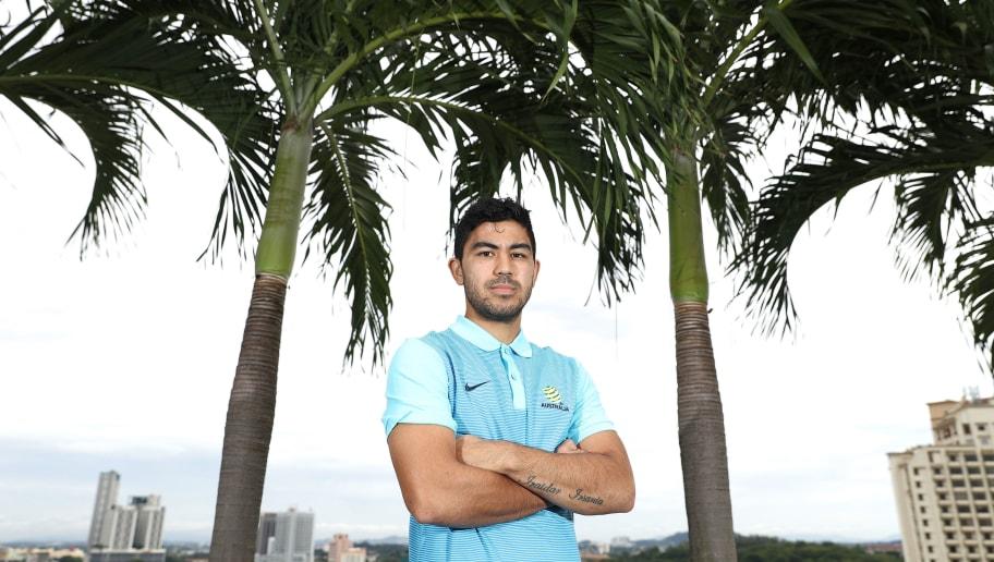 MALACCA, MALAYSIA - OCTOBER 02:  Massimo Luongo of Australia poses during an Australia Socceroos media opportunity on October 2, 2017 in Malacca, Malaysia.  (Photo by Robert Cianflone/Getty Images)