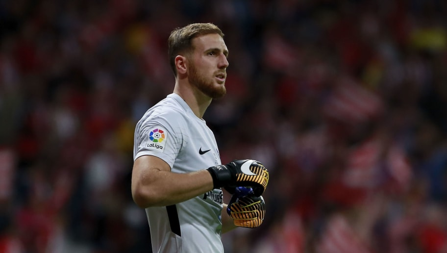 MADRID, SPAIN - SEPTEMBER 16:  Goalkeeper Jan Oblak of Atletico de Madrid looks on during the La Liga match between Club Atletico Madrid and Malaga CF at Estadio Wanda Metropolitano on September 16, 2017 in Madrid, Spain.  (Photo by Gonzalo Arroyo Moreno/Getty Images)