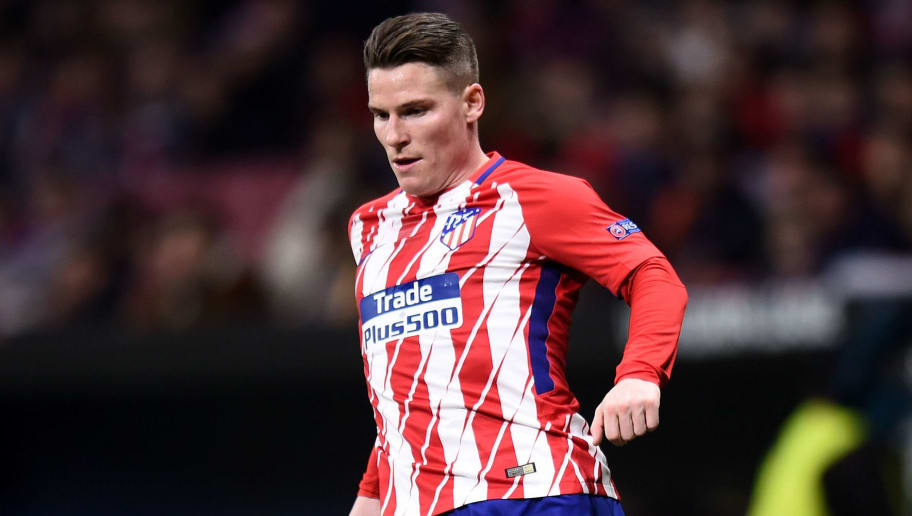 MADRID, SPAIN - FEBRUARY 22: Kevin Gameiro of Atletico de Madrid controls the ball during UEFA Europa League Round of 32 match between Atletico Madrid and FC Copenhagen at the Wanda Metropolitano on February 22, 2018 in Madrid, Spain. (Photo by Denis Doyle/Getty Images)