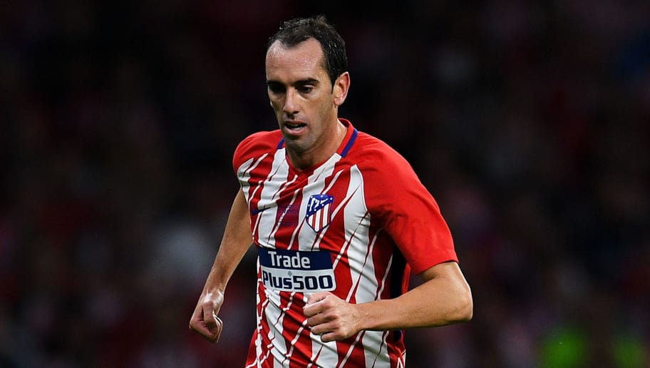 MADRID, SPAIN - SEPTEMBER 16:  Diego Godin of Club Atletico de Madrid during the La Liga match between Atletico Madrid and Malaga at Wanda Metropolitano stadium on September 16, 2017 in Madrid, Spain.  (Photo by David Ramos/Getty Images)