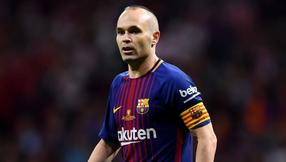MADRID, SPAIN - APRIL 21: Barcelona's Andrea Iniesta during the Spanish Copa del Rey match between Barcelona and Sevilla at Wanda Metropolitano on April 21, 2018 in Barcelona, . (Photo by David Ramos/Getty Images)