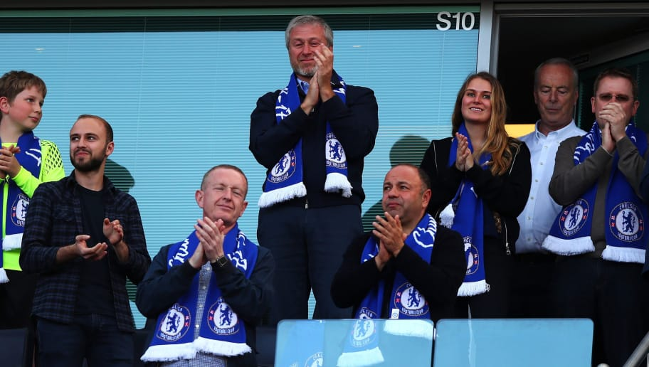 LONDON, ENGLAND - MAY 21:  Roman Abramovich, Chelsea owner celebrates his side winning the league after the Premier League match between Chelsea and Sunderland at Stamford Bridge on May 21, 2017 in London, England.  (Photo by Clive Rose/Getty Images)