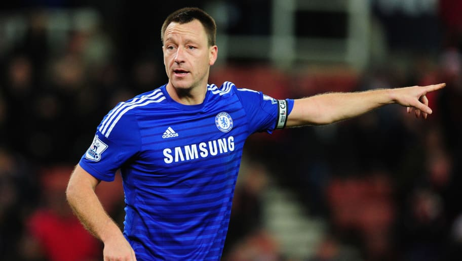 STOKE ON TRENT, ENGLAND - DECEMBER 22:  Chelsea player John Terry in action during the Barclays Premier League match between Stoke City and Chelsea at Britannia Stadium on December 22, 2014 in Stoke on Trent, England.  (Photo by Stu Forster/Getty Images)