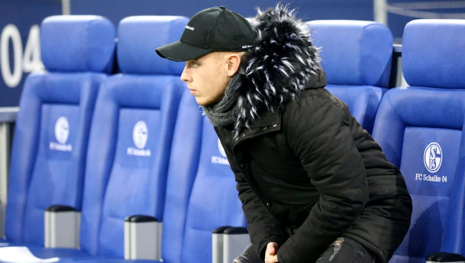 GELSENKIRCHEN, GERMANY - FEBRUARY 17: Max Meyer of Schalke is seen prior to the Bundesliga match between FC Schalke 04 and TSG 1899 Hoffenheim at Veltins-Arena on February 17, 2018 in Gelsenkirchen, Germany. (Photo by Christof Koepsel/Bongarts/Getty Images)