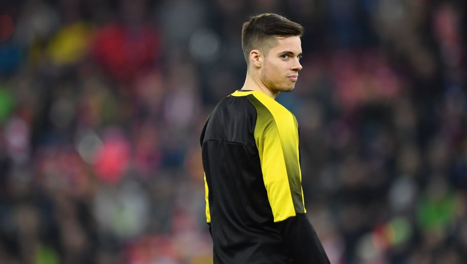 SALZBURG, AUSTRIA - MARCH 15: Julian Weigl of Dortmund looks over his shoulder prior to the UEFA Europa League Round of 16, 2nd leg match between FC Red Bull Salzburg and Borussia Dortmund at the Red Bull Arena on March 15, 2018 in Salzburg, Austria. (Photo by Sebastian Widmann/Bongarts/Getty Images,)