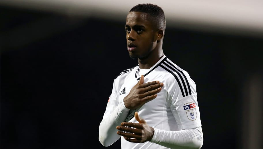 LONDON, ENGLAND - APRIL 03: Ryan Sessegnon of Fulham pats the badge on his shirt after the Sky Bet Championship match between Fulham and Leeds United at Craven Cottage on April 3, 2018 in London, England. (Photo by Catherine Ivill/Getty Images)