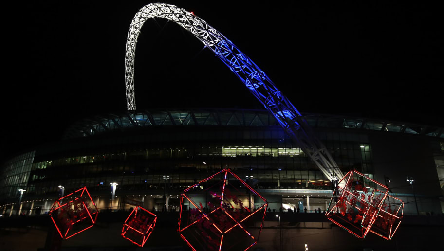 LONDON, ENGLAND - DECEMBER 07:  General view outside the stadium prior to kick off during the UEFA Champions League Group E match between Tottenham Hotspur FC and PFC CSKA Moskva at Wembley Stadium on December 7, 2016 in London, England.  (Photo by Julian Finney/Getty Images)