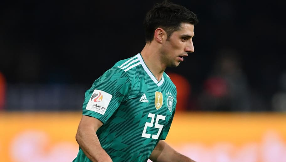 BERLIN, GERMANY - MARCH 27:  Lars Stindl of Germany in action during the international friendly match between Germany and Brazil at Olympiastadion on March 27, 2018 in Berlin, Germany.  (Photo by Stuart Franklin/Bongarts/Getty Images)