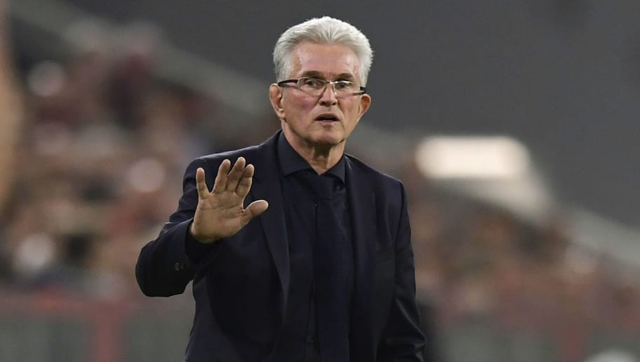 Bayern Munich's German head coach Jupp Heynckes gestures during the UEFA Champions League semi-final first-leg football match FC Bayern Munich v Real Madrid CF in Munich, southern Germany on April 25, 2018. (Photo by JAVIER SORIANO / AFP)        (Photo credit should read JAVIER SORIANO/AFP/Getty Images)