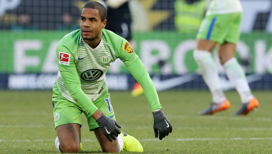 WOLFSBURG, GERMANY - MARCH 03:  Daniel Didavi of Wolfsburg looks on during the Bundesliga match between VfL Wolfsburg and Bayer 04 Leverkusen at Volkswagen Arena on March 3, 2018 in Wolfsburg, Germany. (Photo by Matthias Kern/Bongarts/Getty Images)