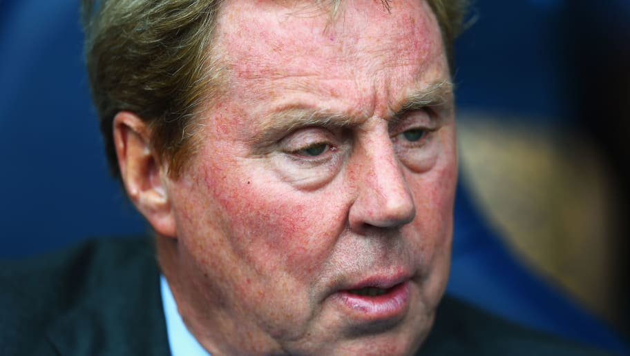 LONDON, ENGLAND - AUGUST 24:  Harry Redknapp, the QPR manager looks on prior to the Barclays Premier League match between Tottenham Hotspur and Queens Park Rangers at White Hart Lane on August 24, 2014 in London, England.  (Photo by Jamie McDonald/Getty Images)