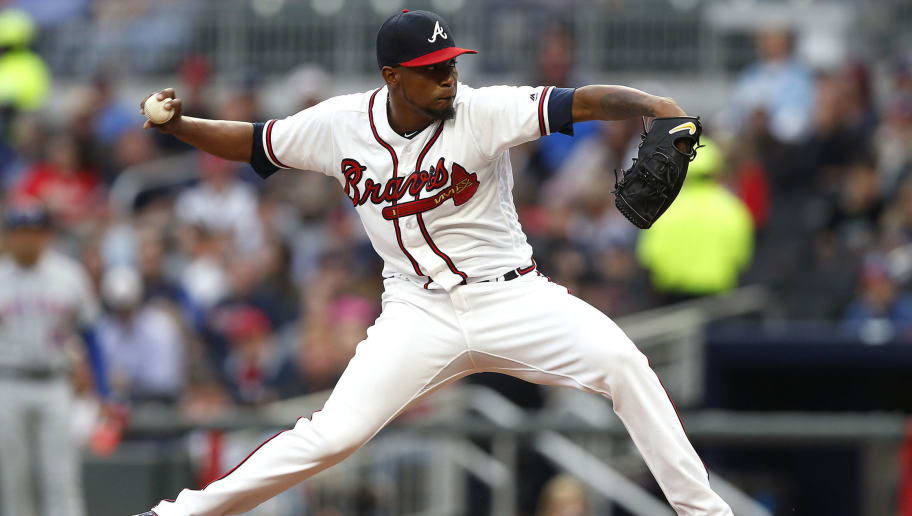 ATLANTA, GA - APRIL 21:  Pitcher Julio Teheran #49 of the Atlanta Braves throws a pitch in the second inning during the game against the New York Mets at SunTrust Park on April 21, 2018 in Atlanta, Georgia.  (Photo by Mike Zarrilli/Getty Images)