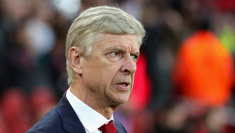 LONDON, ENGLAND - APRIL 26:  Arsene Wenger, Manager of Arsenal looks on during the UEFA Europa League Semi Final leg one match between Arsenal FC and Atletico Madrid at Emirates Stadium on April 26, 2018 in London, United Kingdom.  (Photo by Richard Heathcote/Getty Images)