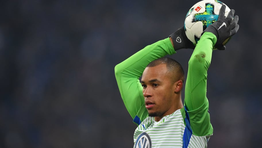 GELSENKIRCHEN, GERMANY - FEBRUARY 07:  Marcel Tisserand of Wolfsburg in action during the DFB Pokal quarter final match between FC Schalke 04 and VfL Wolfsburg at Veltins-Arena on February 7, 2018 in Gelsenkirchen, Germany.  (Photo by Stuart Franklin/Bongarts/Getty Images)