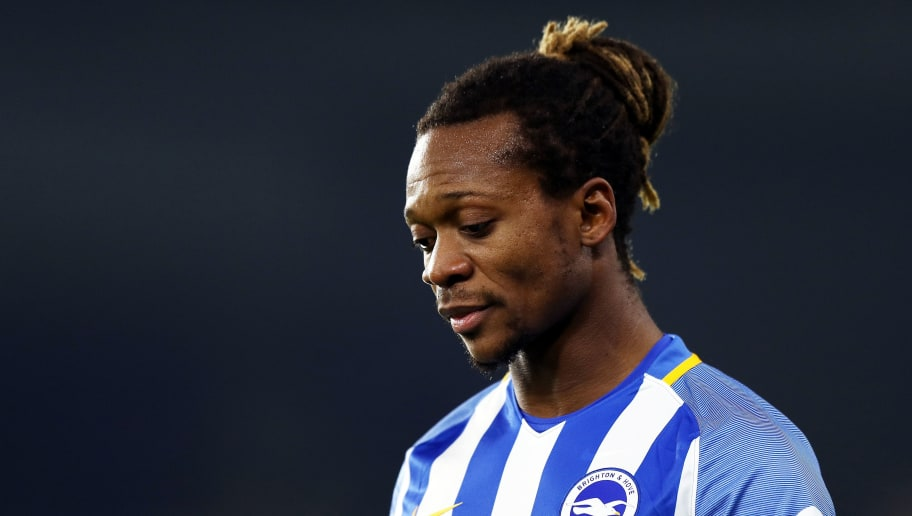 BRIGHTON, ENGLAND - JANUARY 08:  Gaetan Bong of Brighton & Hove Albion looks on during The Emirates FA Cup Third Round match between Brighton & Hove Albion and Crystal Palace at Amex Stadium on January 8, 2018 in Brighton, England.  (Photo by Bryn Lennon/Getty Images)