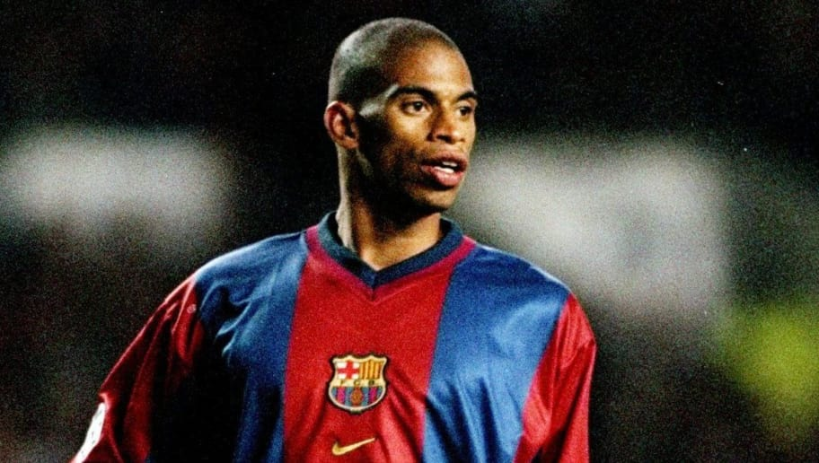 16 Sep 1998: Michael Reiziger of Barcelona in the UEFA Champions League match against Manchester United at Old Trafford in Manchester, England. The game ended 3-3. \ Mandatory Credit: Clive Brunskill /Allsport
