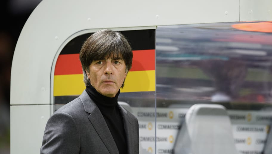 BERLIN, GERMANY - MARCH 27: Head coach Joachim Loew of Germany seen prior to the international friendly match between Germany and Brazil at Olympiastadion on March 27, 2018 in Berlin, Germany. (Photo by Matthias Hangst/Bongarts/Getty Images)