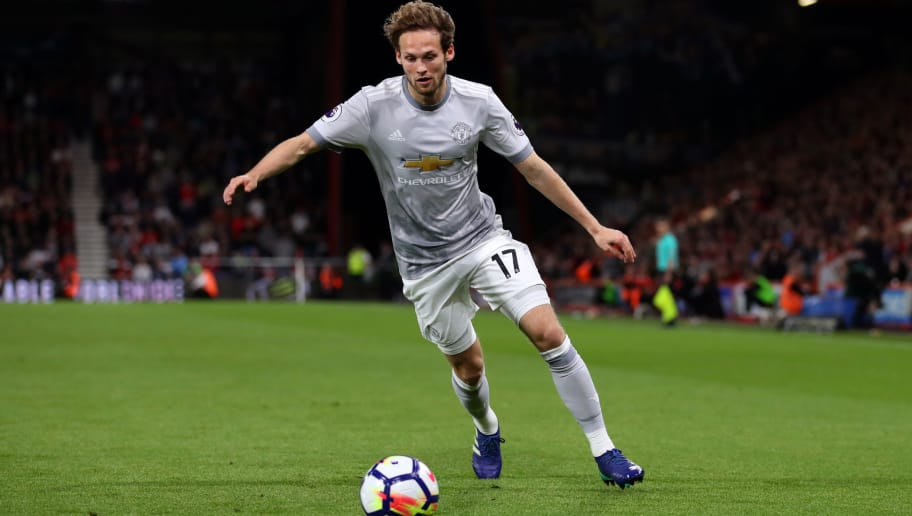 BOURNEMOUTH, ENGLAND - APRIL 18: Daley Blind of Manchester United during the Premier League match between AFC Bournemouth and Manchester United at Vitality Stadium on April 18, 2018 in Bournemouth, England. (Photo by Catherine Ivill/Getty Images)
