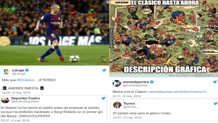 1d84a4607 Los mejores  tweets  de la locura de partido entre el Barça y el Madrid en  el Camp Nou (2-2)
