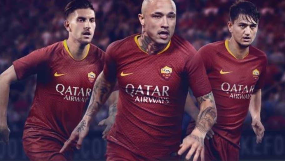 b30e87629 AS Roma Unveil New Nike 2018 19 Home Kit With Historic Roman Military Design