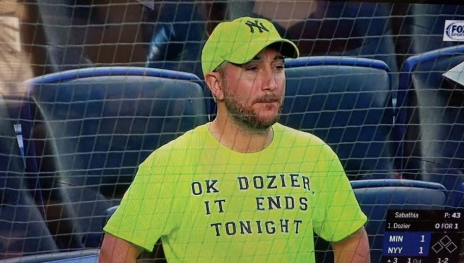 c931bd990 Neon Shirt-Wearing Yankee Fan Gets Permanently Banned From Yankee Stadium  After Rain Delay Mishap