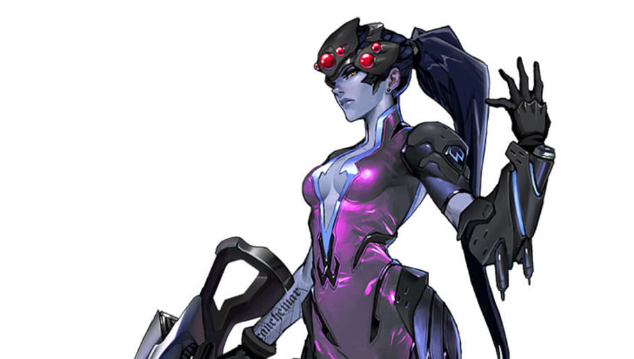 Fortnite Overwatch Character Resemblance Overwatch Fan Creates Amazing Widowmaker Skin Concept Dbltap