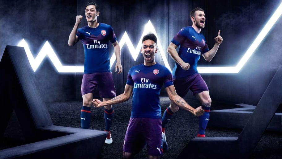 186471ff5 PHOTO  Arsenal Launch Official Puma Away Kit Ahead of the 2018 19 Premier  League Season