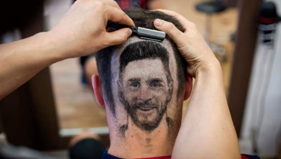 Photos Lionel Messis Hair Tattoo Is The Latest Trend Ahead Of