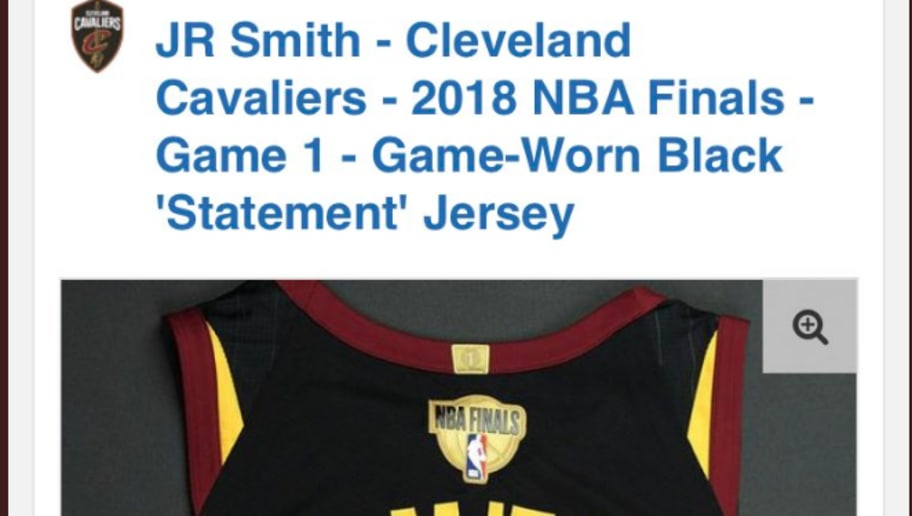 db57255ba JR Smith s NBA Finals Game 1 Jersey is Officially for Sale