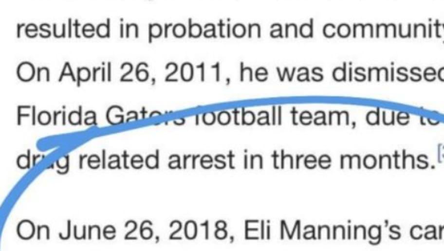 da109b84d Wikipedia Edit Takes Savage Shot at Eli Manning Following Janoris Jenkins  Incident