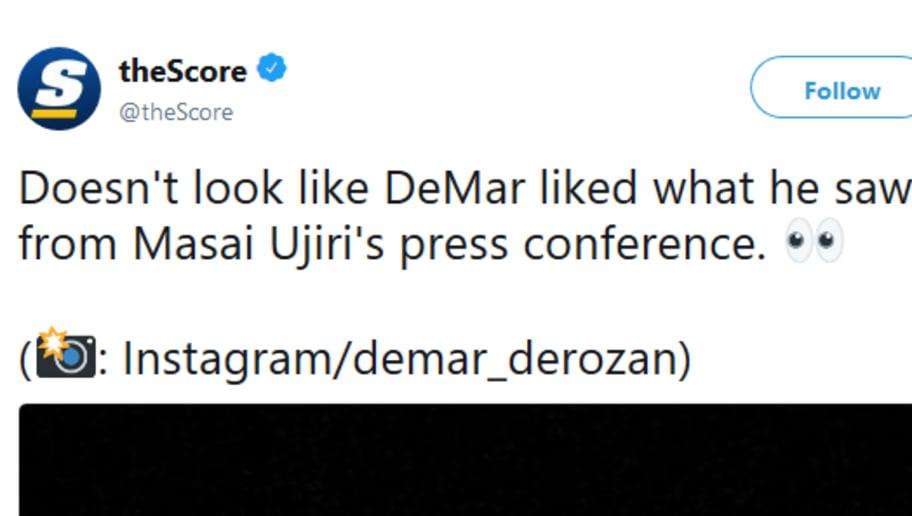 99329247f498 DeMar DeRozan Responds to Masai Ujiri s Comments on Instagram Story ...