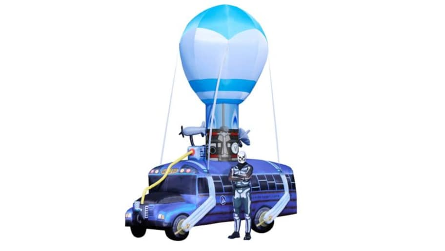 Inflatable 17 Feet Tall Fortnite Battle Bus Now Available For 500