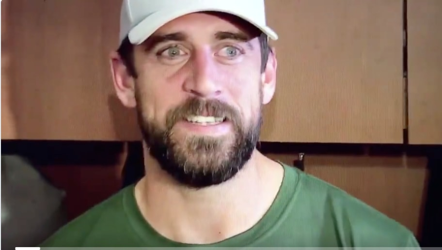 Video Aaron Rodgers Jokes About Pregame Routine With Former