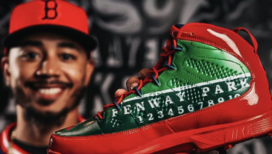 c3d3a08086a Mookie Betts Shows Off Unreal Players Weekend Cleats