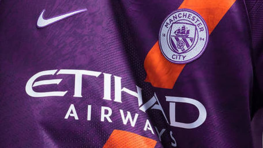 03901ccfc8cc PHOTOS  Manchester City Launch New Nike 2018 19 Purple Third Kit ...