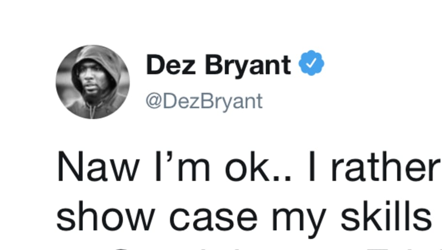 a450232dea8 Dez Bryant Reveals He'd Like to Play for Patriots or Redskins | 12up